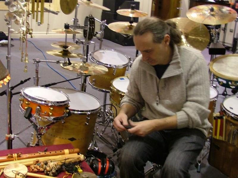 Martin setting up
