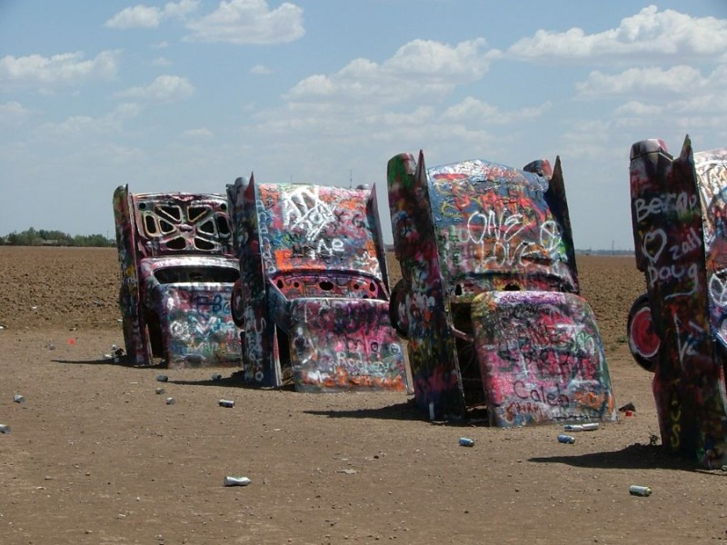 Stanley Marsh Cadillac ranch 4