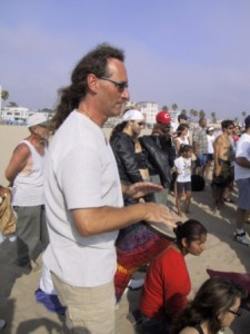 Drum circle in Venice beach, LA