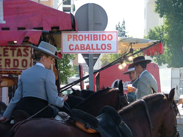 Horse riders prohibited, Fuengirola, Spain.