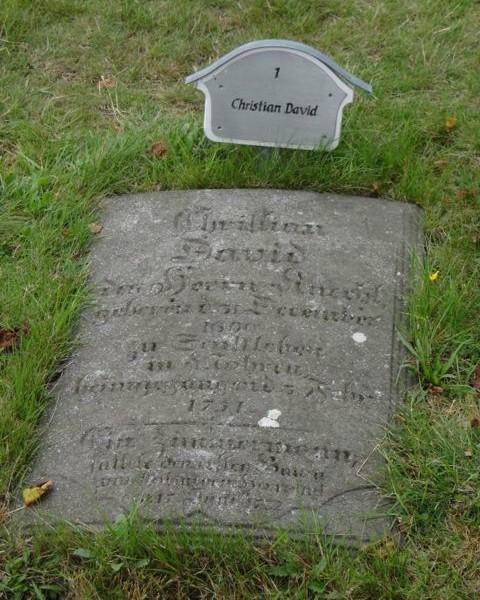Christian David tomb stone